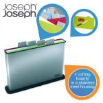 Joseph Joseph 4er Set Schneidebretter im Edelstahlhalter inkl. Versand um 45,90€