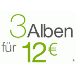 3 MP3-Alben um 12€ bei Amazon.de