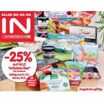 Neue Sortimentsaktionen (z.B.: -25% auf alle Tiefkühl-Produkte inkl. Eis bei Spar & Interspar)