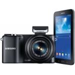 Amazon Blitzangebot: Samsung F-EVNX2000 Systemkamera Set inkl. Galaxy Tab 3 weiss oder schwarz um 299 €