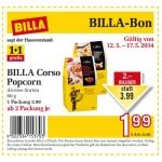 Billa: Billa Corso Popcorn 1+1 gratis