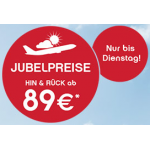Jubelpreise bei Airberlin für den Sommer (1. Juni – 31. August 2014)