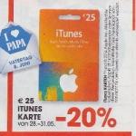 Müller, Libro und Interspar: -20% auf iTunes Karten (28.5.-31.5.2014)