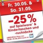 -25 % auf Spielwaren am 30. u. 31. 5. bei Libro am 30. u. 31.5. in den Filialen und vom 30.5.-1.6. im Onlinehsop