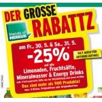 Merkur: -25% auf Limo, Fruchtsäfte, Mineral und Energy Drinks für FoM am 30. u. 31.5.2014