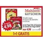 Spar Mahlzeit Gutscheine zB.: 2 x 6 0,33l Almradler um 4,98 €