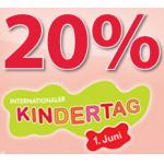 nur am 31.05. -20% auf Spielwaren bei Müller