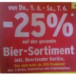 Merkur: -25% auf Bier und Biertender Geräte für FoM von 5. -7.6.2014