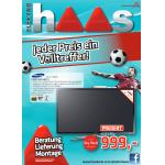Neues Haas-Prospekte: TV-Angebote + 1 Jahr Sky Welt kostenlos im Wert von 241,80€