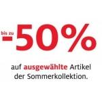 Bis zu 50 % Rabatt auf ausgewählte Artikel der Sommerkollektion bei C&A (Filialen und Onlineshop) ab 13.6.2014
