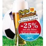 Billa: -25% auf alle Biere (auch Radler) am 20. u. 21.6.2014 (f. Vorteilsclubmitglieder)