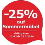 IKEA Vösendorf: -25% auf alle lagernden Sommermöbel bis 21.6.2014