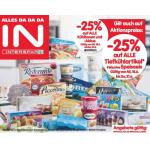 Neue Sortimentsaktionen (z.B.: -25% auf alle Tiefkühlartikel inkl. Speiseeis bei Interspar, Spar)