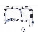Aufblasbares Fußballtor mit Tornetz & 2 Bälle für 10 Euro – inkl. Versandkosten