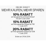Bis zu 20 % Rabatt im H&M-Onlineshop