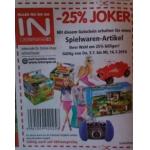 Interspar: -25 % auf Spielwaren von 9.-15.10.2014 (online und offline)