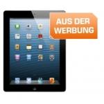Aktuelles Saturn Prospekt bis 16.7.2014 – zB.: Apple iPad 4 16GB in schwarz (MD510FD/A) um 299 €