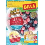 Neue Sortimentsaktionen (z.B.: -25% auf alle Tiefkühlprodukte bei Billa)