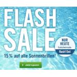 MisterSpex.de: 15% Rabatt auf alle Sonnenbrillen – nur heute
