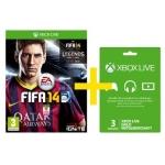 Saturn Tagesdeal: Fifa 14 für Xbox One + 3 Monate Xbox-Live Goldmitgliedschaft um 38 € inkl. Versand