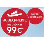 Jubelpreise bei Airberlin (16. Juli – 31. Dezember 2014) & 100€ zusätzlicher Rabatt bei Flug&Hotel Buchung auf Expedia.de