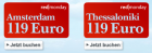Um 119€ nach Amsterdam oder Thessaloniki @Austrian redmonday