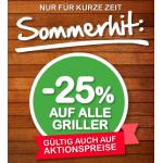 Interspar: -25% auf alle Griller im Onlineshop (inkl. Aktionspreise)