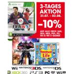 Libro: 10% Rabatt auf Videospiele bis 2. August 2014 und Reminder Mario Kart 8 + kostenloses Game nur noch heute!