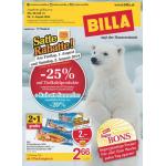 Neue Sortimentsaktionen (z.B.: -25% auf Tiefkühlprodukte bei Billa)