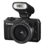 Canon EOS M Systemkamera + EF-M 22mm Objektiv + Speedlite 90EX und Mount Adapter EF-EOS M inkl. Versand um 349 € statt 549,90 €