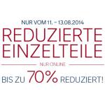 C&A: bis zu -70% Rabatt auf Einzelteile vom 11. – 13.8.2014