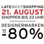 Parndorf Late Night Shopping Angebote vom 21. August 2014