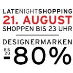 Parndorf Late Night Shopping Angebote vom 21. August 2014