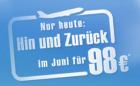 Nur Heute: um 98€ in europäische Städte im Juni @Airberlin