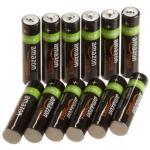 12 Stück AmazonBasics Ni-MH-Akkus (AAA, 800 mAh) um 14,49€