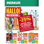Neue Sortimentsaktionen (z.B.: -25% auf alle Limonaden, Fruchtsäfte, Mineralwasser und Energydrinks bei Merkur)