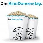 Drei Kino Donnerstag –  zwei Kinotickets zum Preis von einem