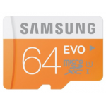 Samsung 64GB EVO MicroSDHC Speicherkarte inkl. Versand um 32,99€