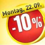 -10% bei Baumax am Montag den 22. September 2014