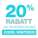 20% Extra-Rabatt auf Sportkleidung bei Amazon.de
