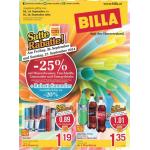 Neue Sortimentsaktionen (z.B.: -25% auf alle Limonaden, Mineralwasser, Fruchtsäfte und Energydrinks bei Billa)