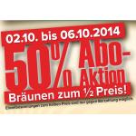 -50% Mehrwert zu Abos bei Sun Company von 2. – 6.10.2014