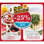 Satte Rabatte bei Billa -25% auf z.B. Süßwaren und Teigwaren