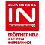 Eröffnungsangebote im Interspar-Hypermarkt am Hauptbahnhof bis 15. Oktober 2014