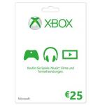 Xbox Live Guthabenkarte im Wert von 25€ um 18€