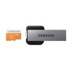 Samsung EVO 16GB microSDHC Class10 Speicherkarte inkl. USB Adapter um 13,99€