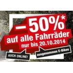 -50% auf alle Fahrräder bei Hervis – auch im Online Shop bis 20.10.2014