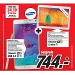 Samsung Galaxy Note 4 Smartphone + Galaxy Note 10,1″ Tablet um 744€