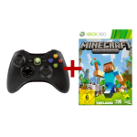 Xbox 360 Wireless Controller + Minecraft (Xbox360) um 27€