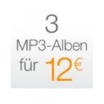 3 MP3-Alben für 12€ als Download auf Amazon